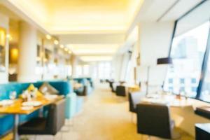 flou abstrait et café-restaurant défocalisé intérieur café et restaurant photo