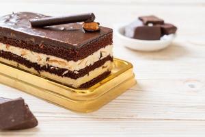 délicieux gâteau au chocolat aux amandes photo