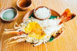 crevettes grillées ou crevettes photo