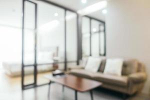 abstrait flou intérieur du salon photo