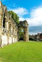 Jardin du musée de l'abbaye de St Mary à York City en Angleterre photo
