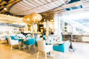 restaurant flou abstrait photo