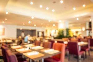 flou abstrait restaurant et café intérieur photo
