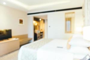 flou abstrait et intérieur de la chambre défocalisé photo