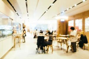 flou abstrait et café-restaurant défocalisé intérieur de café et de restaurant pour le fond photo