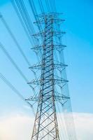 poste électrique à haute tension photo