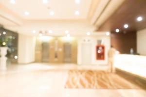 flou abstrait hôtel et intérieur du hall photo