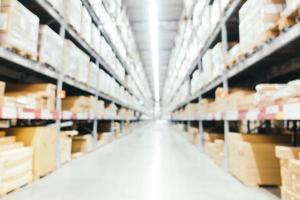 flou abstrait et intérieur du magasin d'entrepôt défocalisé photo