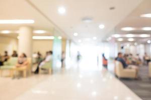 flou abstrait intérieur de l'hôpital et de la clinique photo