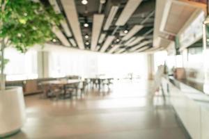 Flou abstrait aire de restauration dans un centre commercial pour le fond photo
