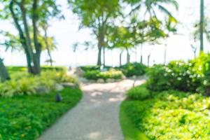 complexe hôtelier de luxe flou abstrait pour le fond - concept de vacances et de vacances photo