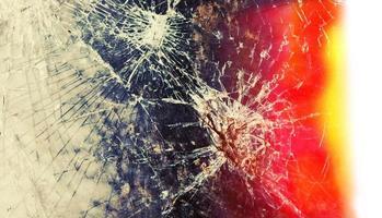 image abstraite de la texture du verre brisé photo