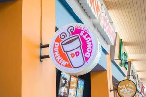 nonthaburi, thaïlande 20 janvier 2018 signe de dunkin donuts photo