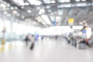 flou de l'arrière-plan de l'aéroport photo