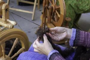 toupie travaillant la couture photo