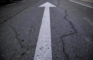détail de la texture de la route photo