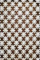 grille en métal blanc photo