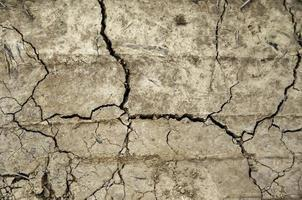 texture de la terre fissurée photo