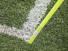 terrain de football d'angle photo