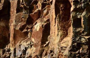 texture de pierre transparente. gros plan de pierre photo