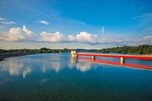 paysage du réservoir de baoshan à hsinchu, taiwan photo
