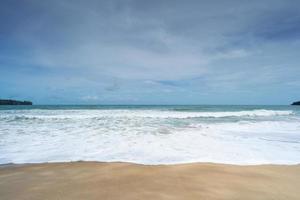 fond de plage d'été tropical vide photo