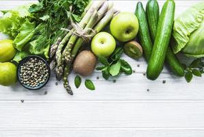 fond de concept de nourriture végétarienne saine photo