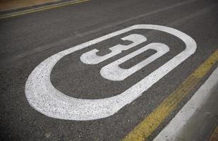 limite de vitesse sur route photo