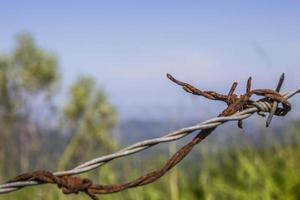 fil rouillé suspendu photo