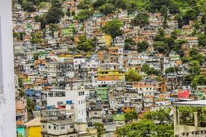 Détails de la favela rocinha à rio de janeiro - brésil photo