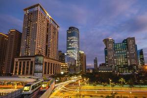 horizon de la nouvelle ville de taipei à taiwan la nuit photo
