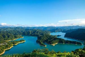 paysage du lac des mille îles à shiding, taiwan photo