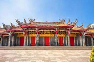 Vue sur la façade du temple hsing tian kong à taipei, taiwan photo