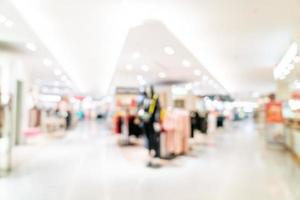 boutique de flou abstrait et magasin de détail dans un centre commercial pour le fond photo