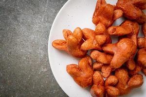 saucisse frite avec trempette photo