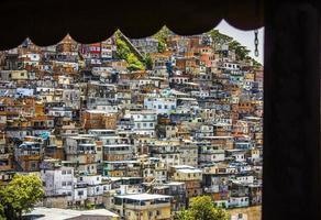 colline de cantagalo à rio de janeiro au brésil. photo