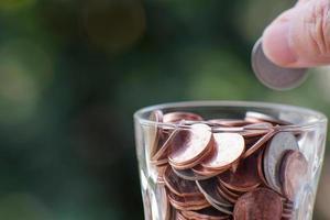 économiser de l'argent et concept de croissance des entreprises, concept de financement et d'investissement photo