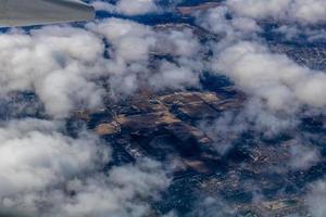 Une vue de Chicago depuis les airs lors de l'atterrissage, Chicago, Illinois, États-Unis photo