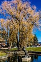 certains des sites en se promenant autour du corégone, montana, états-unis photo