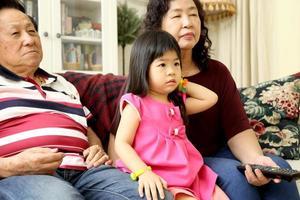 famille dans le salon photo