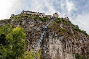 ascenseur au château de hochosterwitz en carinthie en autriche photo