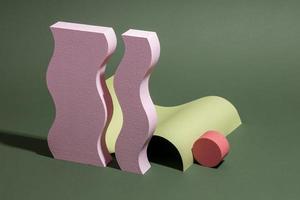 l'assortiment d'éléments de conception 3d abstraits photo
