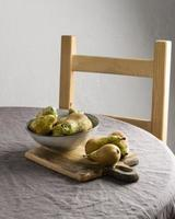 la composition table de repas sain photo