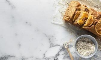 l'arrangement délicieux ingrédients de la recette saine photo