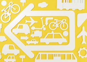 concept de transport avec tous les véhicules photo