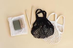 composition concept zéro déchet pour le nettoyage photo