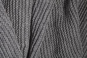 écharpe grise en tricot photo