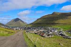 klaksvik, la deuxième plus grande ville des îles Féroé photo