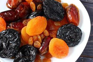 fruits exotiques séchés. alimentation saine. photo
