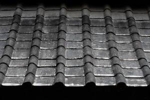 texture de toit chinois antique une pente photo